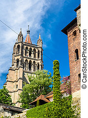 View of the Cathedral of Lausanne - Switzerland