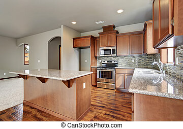 Lovely kitchen with nice counters.