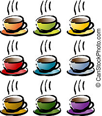 Colorful coffee beverage icon - Colorful coffee beverage...