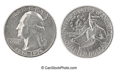 Quarter Dollar 1776-1976 - United States money. Quarter...