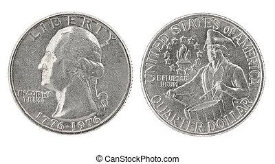 Quarter Dollar 1776-1976 - United States money. Quarter...