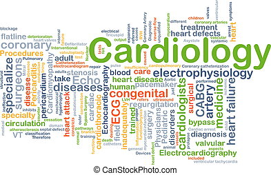 Cardiology background concept - Background concept wordcloud...