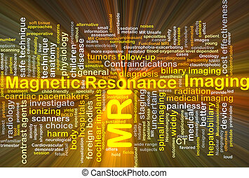 Magnetic resonance imaging MRI background concept glowing -...