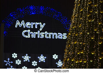 merry christmas lights backgrounds and christmas tree...