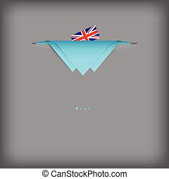 Fiji sign - The combination of colors of the national flag...