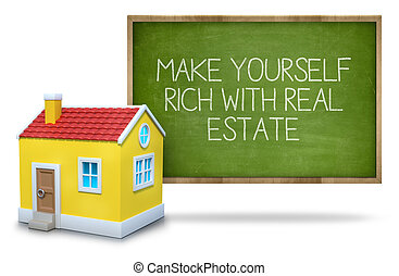 Make yourself rich with real estate on blackboard - Make...
