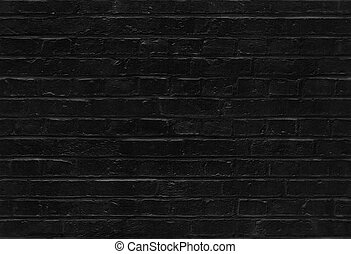 Seamless black brick wall pattern texture background -...