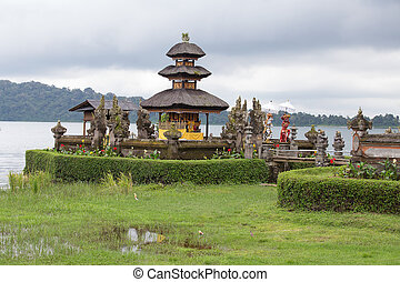 Ulun Danu Bratan , Temple on the lake , Bali , Indonesia