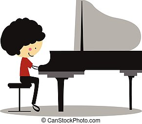 Doodle Playing Piano