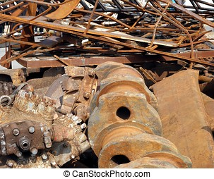 Large Scrap Iron Chunks - Large industrial items of junked...