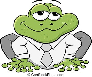 business frog with shirt and tie - vector illustration of a...