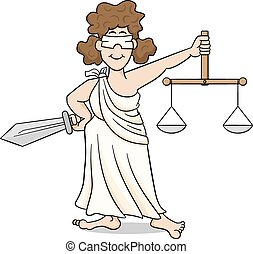 lady justice - vector illustration of lady justice, the...