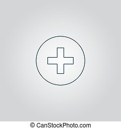 Medical cross - Medical cross. Flat web icon or sign...