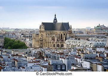 Paris,  l'auxerrois,  Skyline,  saint-germain, igreja
