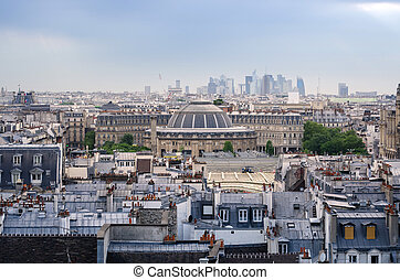 paris,  jardin, Horizon,  Nelson, couvert, MARCHÉ,  mandela