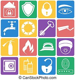 Vector of  security icons set