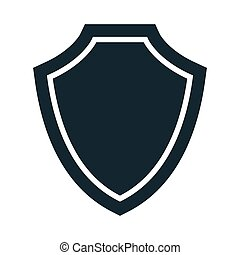 Vector illustration of shield icon