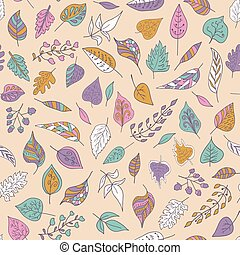 Vector seamless pattern with colore - Vector illustration...