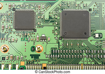 Computer substrate - Two IC mounted on the substrate board...