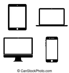 Vector icons of gadgets