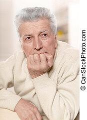 Serious senior man - Portrait of a serious senior man...