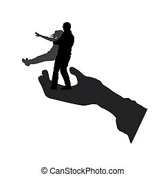 Vector silhouette of couple