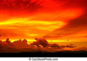 Arizona Sunset - Sunset in the Southeastern section of...