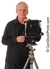 Large Format Photographer - Senior photographer with a large...