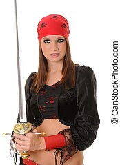 Pirate Girl - A lovely pirate girl with a sword