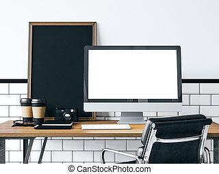 Mock up of generic computer. 3d rendering