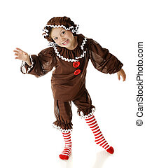Goofy Gingerbread Girl - An attractive elementary...