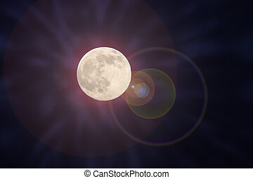moon light - beautiful rays of moon light with lens flare