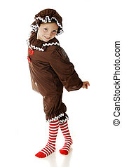 Dancing Gingerbread Girl - An adorable young elementary...