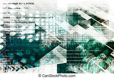 Business Technology Concept on Worldwide Report View