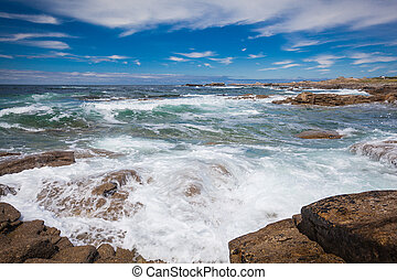Cote Sauvage at the west side of peninsula Quiberon