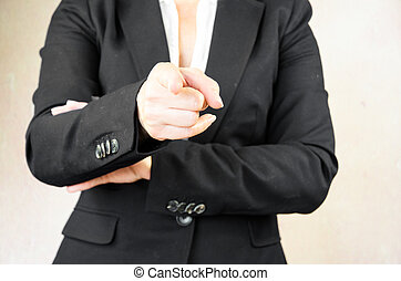 pointing finger - gesture of hand with pointing finger