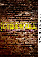 Firewall - Brick wall with Firewall text - cyber security...