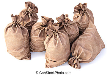 sack - Bag from a sacking isolated on a white background