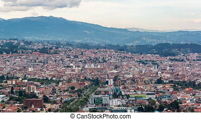 Cuenca Time Lapse - Cityscape time lapse view of the...