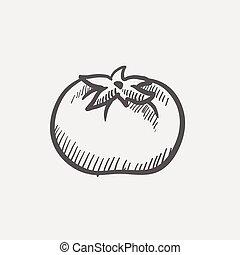 Tomato sketch icon