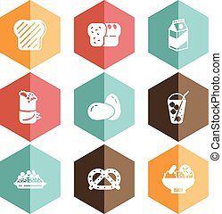 Solid icons food beverage - all designed icons in vector...