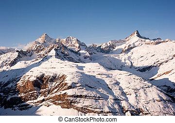 Gabelhorn and Zinalrothorn above Zermatt - Gabelhorn and...
