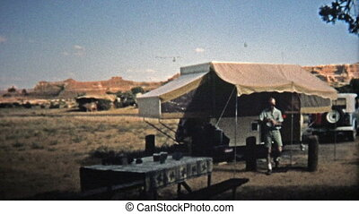 1971: Popup trailer camping in the - Unique vintage 8mm film...