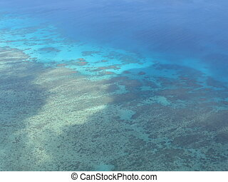Birdeye View of Reef - this picture was taken while flying...