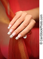 hand, nails, manicure - nails, manicure, beauty, hand, red...