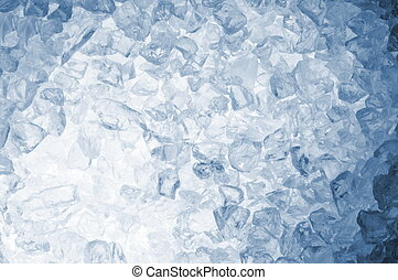abstract blie ice background - abstract blue ice cube...