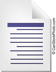Text document icon - Text writing document file type...