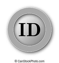 ID icon. Internet button on white background.