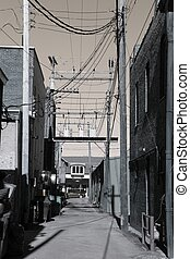 Small Town Alley - A small town alley somewhere in America...