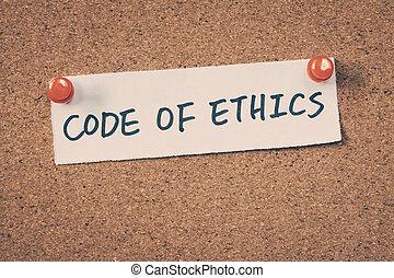 ética, código